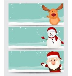 Set of christmas banner vector image
