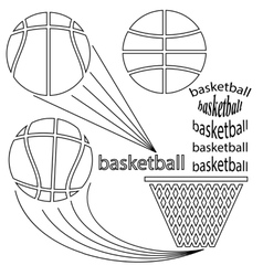 Set of sport basketball icons vector