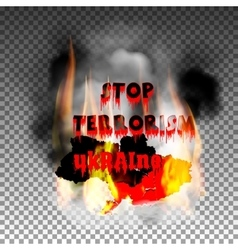 Stop terrorism in the country of ukraine and the vector