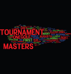 The masters text background word cloud concept vector