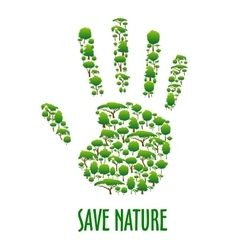 Environmental ecology protection poster vector