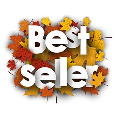 Best seller background with maple leaves vector