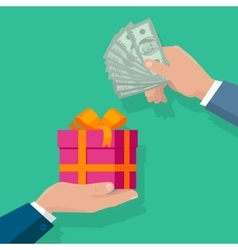 Making Gifts Concept in Flat Design vector image