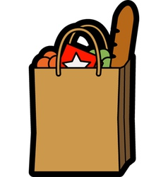 Bag of shopping vector image