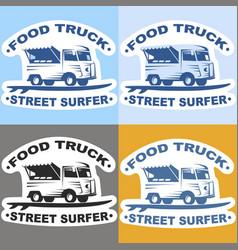 food truck stickers vector image
