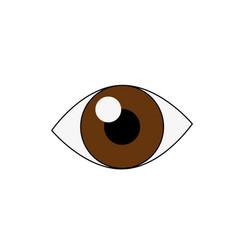 human eye isolated vector image