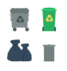 Various garbage containers vector