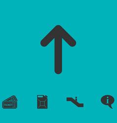 Arrow up icon flat vector