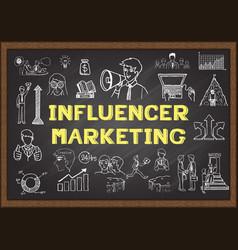 Influencer marketing vector