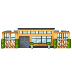 A building with green plants vector