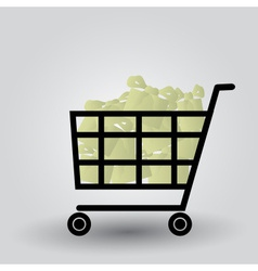 Shopping cart with packages eps10 vector