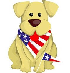 Cartoon usa dog vector image