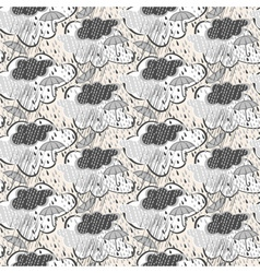 Seamless rain pattern vector
