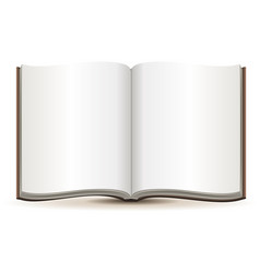 Open magazine with blank pages in a brown cover vector