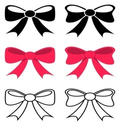 Black and red bows vector