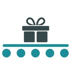 Baggage transportation flat icon vector