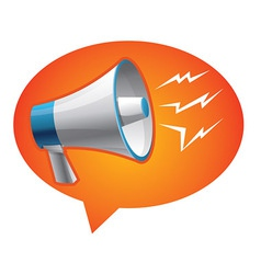 Icon megaphone - communication concept vector