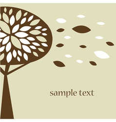 Abstract tree autumn background vector image