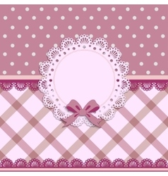Beautiful background with a cloth napkin and bow vector