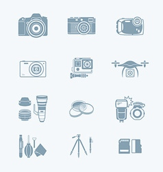 Photography set vector