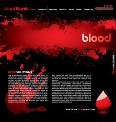 Blood web vector