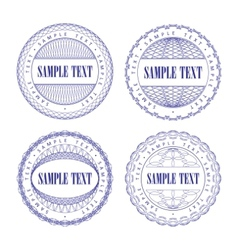a set of vector guilloche seal vector image vector image