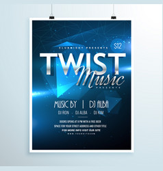 Abstract music party flyer template invitation in vector