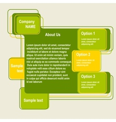 Abstract web site green design template vector image