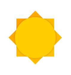 Abstract yellow sun clean vector