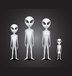 Alien family vector image vector image