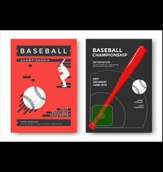 baseball game poster vector image vector image