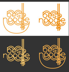 best noodle logo sign for noodle cafe bar fast vector image