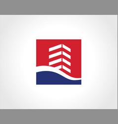 building cityscape icon logo vector image vector image