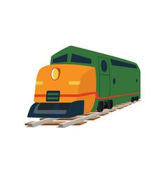 Cargo or passenger train locomotive vector