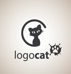 cat logo 4 vector image