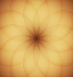 Circle elements with golden background vector image