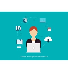 Concept of consulting services and e-learning vector image vector image
