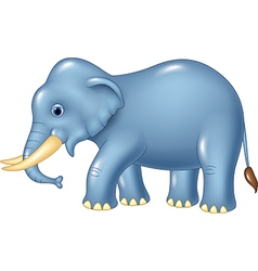 Cute elephant mascot isolated on white background vector image