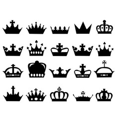 different crowns vector image vector image