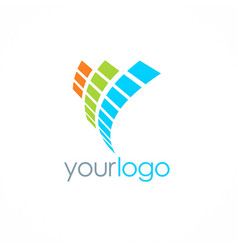 Digital loop technology logo vector