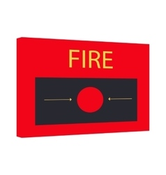 Fire alarm icon cartoon style vector