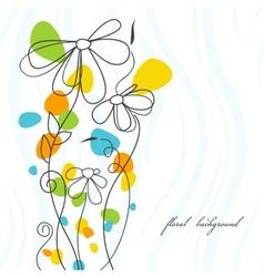 Flower card vector