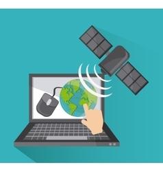 Global communications design vector