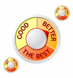 good better the best rating vector image vector image