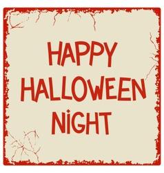 Happy Halloween Night vector image vector image