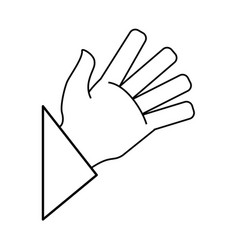 human hand draw vector image vector image