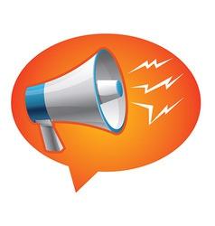 icon megaphone - communication concept vector image