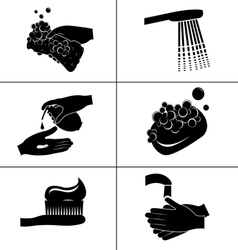Icons of hygiene vector