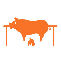 isolated cooked pork vector image vector image