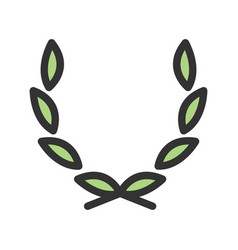 Leaves wreath vector